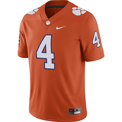 Nike Mens Clemson Tigers #4 Watson Game Home Jersey Orange (Large)