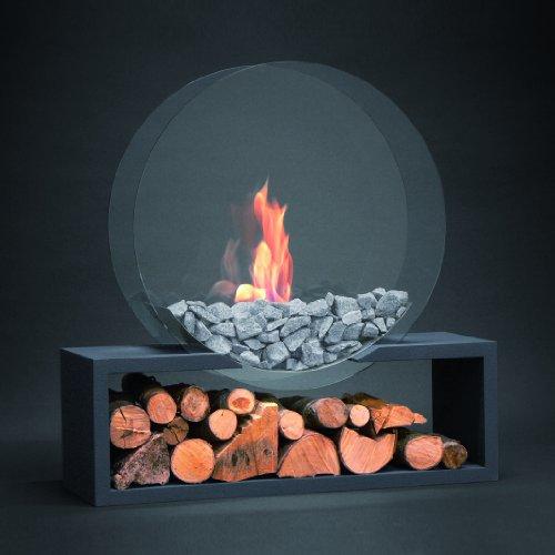 Alfra Feuer Bioethanolofen Julius rund anthrazit Bioethanolkamin Kamin Ethanolofen Ethanol Feuer Winterzeit Wärme gemütliche Atmosphäre Wohnen Deko