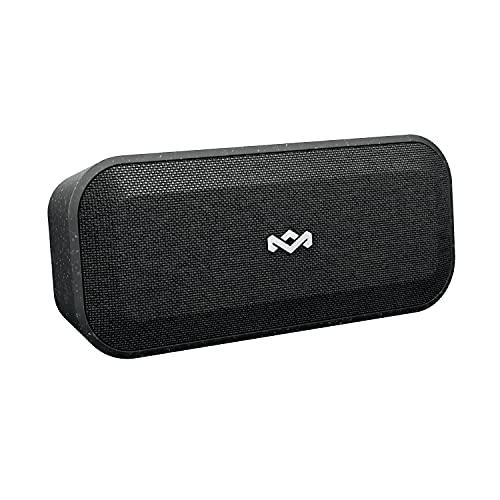House of Marley EM-JA017-SB - Altavoz Bluetooth Impermeable, Color Negro