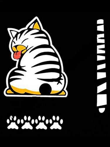 Pegatina para el Parachoques,3D Creativo de Dibujos Animados Auto Ventana Trasera Parabrisas Ventana limpiaparabrisas Estilo decoración calcomanía Patas de Cola de Gato en Movimiento
