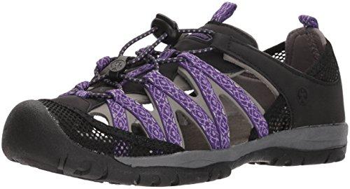 Northside Women's Santa ROSA Sport Sandal, Black/Violet, Size 9 M US