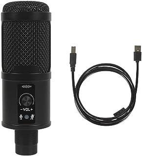 ميكروفون USB سلكي مكثف ميكروفون مع كابل USB للكمبيوتر المحمول وبث مباشر وتسجيل الموسيقى عبر الإنترنت والدردشة والغناء