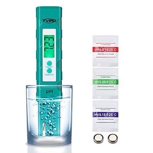 Tvrid PH Mètre,Testeur PH de qualité de l'eau Mesure pour 0-14 Ph,Digital LCD 0.01 Précision de Lecture avec ATC,pour l'eau Potable, Aquariums, hydroponie, piscines, la Nourriture, Le vin etc.