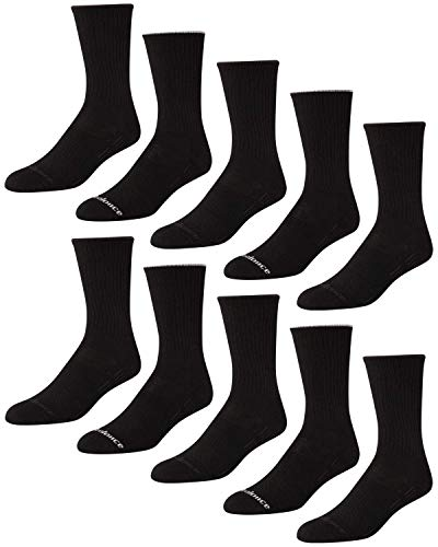 'New Balance Men's Athletic Arch Compression Cushion Comfort Crew Socks (10 Pack), Black, Size Shoe Size: 6-12.5'