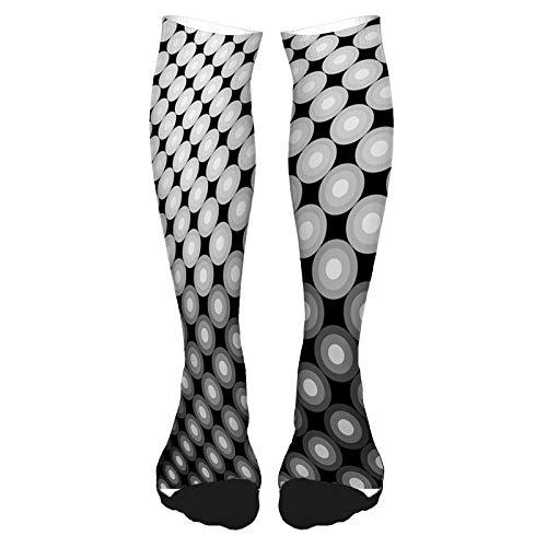 Calcetines altos de algodn sobre la rodilla, calcetines de jirafa para fumar disfrazados de zoolgico, estilo hipster, dibujo retro, calcetines largos hasta la rodilla para hombre y mujer