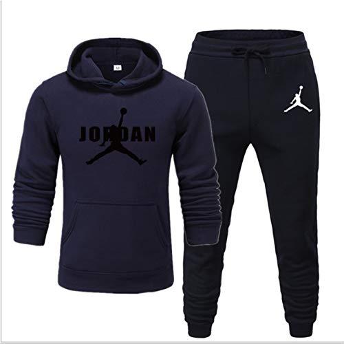 Chicago Bulls # 23 Jordones Jordan Mens Tacksuit Sets, Sudadera y Pantalones Jogging, Jogging Slim Fit, Running Sportswear, Regalos para Fans (S-XXXL) Jordan18-XXL
