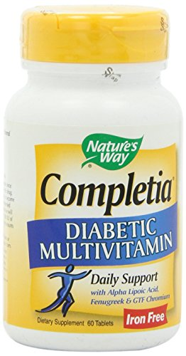 Completia Diabetic Multivitamin Iron Free (60 Tablets)