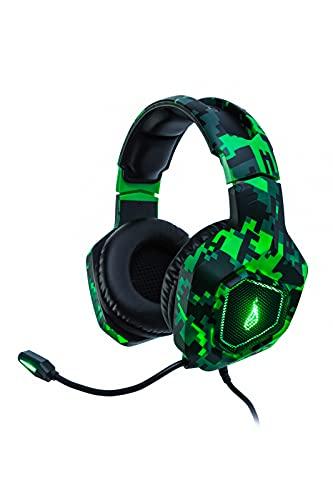 SureFire Skirmish Gaming Headset I Headset PC ; Playstation & Xbox I Gaming Kopfhörer I 390g I mit Stereo 2.0-Sound und LED-Beleuchtung I Headset Gaming I USB 3.2 Gen 1