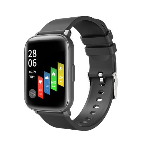 """Smart Watch for Men Women Compatible for Android iOS Phones Samsung iPhone, Tanzato 1.69"""" IP68 Waterproof Smartwatch Fitness Tracker with Heart Rate Blood Oxygen Sleep Monitor Pedometer"""