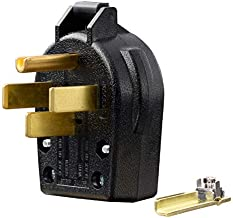 NEMA 14-30P & 14-50P,30 & 50 Amp, 125 & 250 Volt, 3-Pole 4-Wire, Straight Blade Angle Plug 4 Prong Plug for EV Chargers, Induction Ranges, Cooktops, Dryers, Generators, Welders, UL Listed