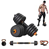 Weights Dumbbells Set,4 In 1 Fitness Dumbbell Barbell Kettlebells Push-up Combination Set, Adjustable Weight Home Fitness Equipment with Connecting Rod for Every Type Training, 30KG/ 66Lbs (Pair)