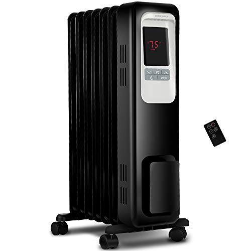 Aikoper Space Heater, 1500W Oil Filled Radiator...