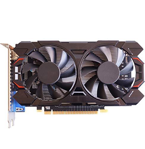 AILINSHA GeForce GTX1050 2GB GDDR5 Tarjeta de gráficos, Escritorio Computer Office Game Tarjetas gráficas discretas compatibles con HDMI/DVI/VGA Dual Fan DISEÑO