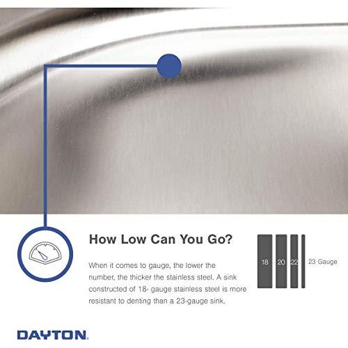 Elkay DE217323 Dayton Equal Double Bowl Stainless Steel Corner Sink