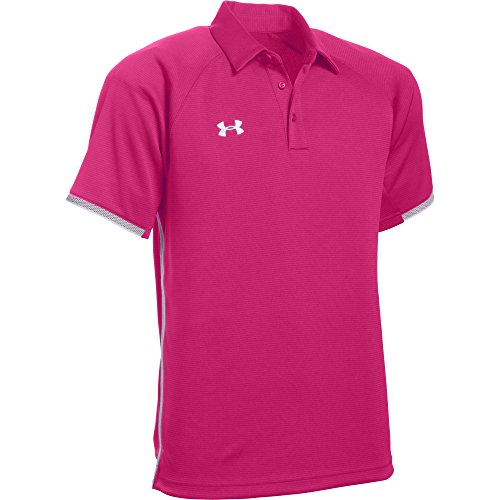 Under Armour Men's UA Rival Polo (Small, Tropic Pink)