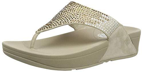 FitFlop Women's Flare Thong Sandal (40-41 M EU / 10 B(M) US, Pebble)