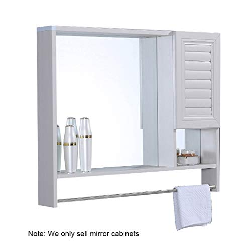 Armoires avec miroir Armoire de toilette en aluminium 60 * 65cm 89 * 66cm de couleur brune couleur blanche miroir de salle de bain miroir avec étagère simple armoire de salle de bain miroir mural Miro
