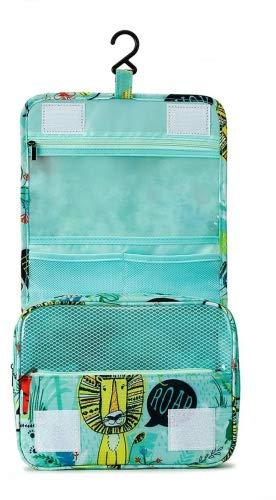 Trousse de Toilette de Voyage Pliable, Tuscall étanche Voyage Cosmétique Sac Grande Capacité Organisateur pour Gymnastique Business et Vacance, avec Crochet et poignée (Animal - 1)