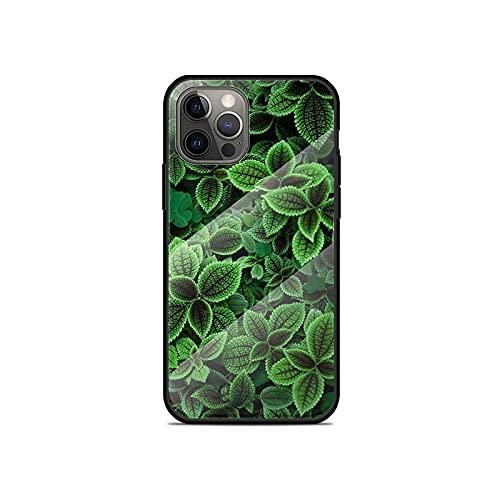 Para iPhone 11 12 Pro Max Mini XR XS X 8 7 6 6S Plus SE 2020 Funda de vidrio templado Coque Fashion Green-T11-para iPhone SE (2020)