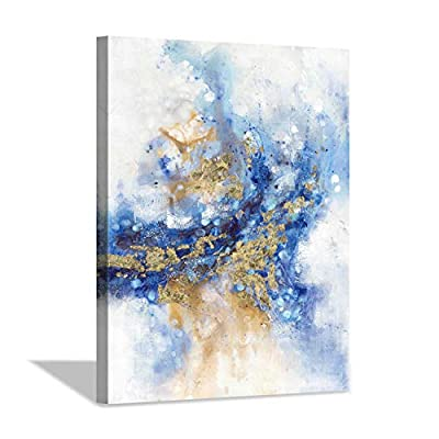 Hardy Gallery Blue Gold foils Abstract Painting from Hardy Gallery