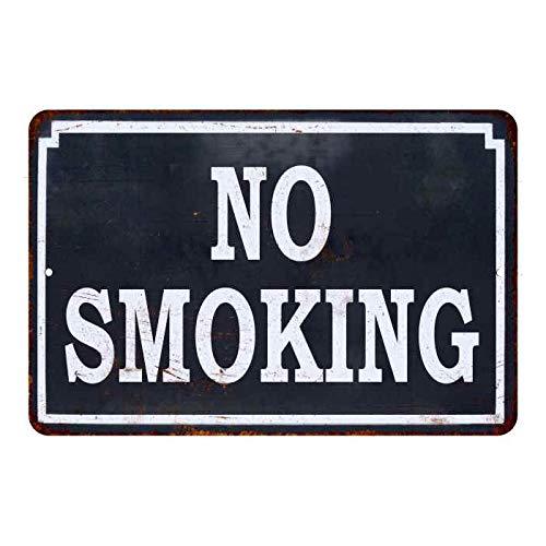 Geen roken donkerblauw vintage kijken reproductie metalen bord 12