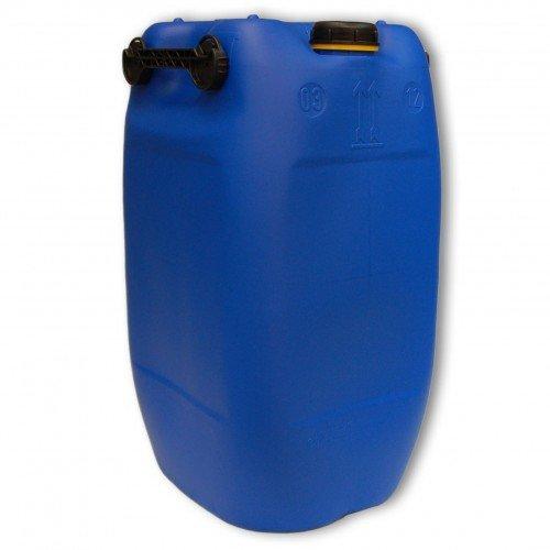 60L Getränke- Wasserkanister Blau mit Schraubdeckel (DIN 71) | Lebensmittelecht | Tragbar mit 3 Griffen | Indoor und Outdoor | BPA Frei