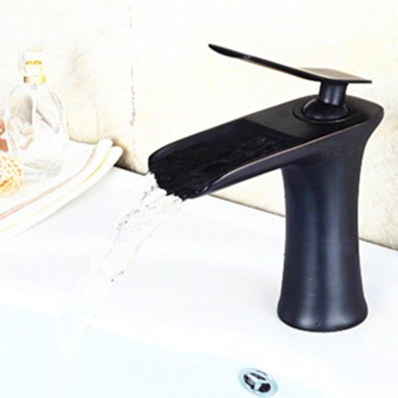 U-Enjoy Europische Retro Wash Top-Qualitt Wasserfall-Hahn-Vintage Brass Badezimmer-Hahn-Antike-Heies Und Kaltes Badezimmer-Mischer-Hahn [Bassin-Hahn-E]