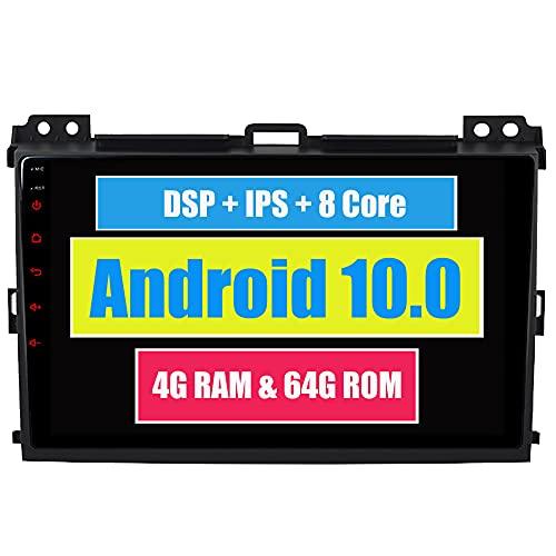 RoverOne 8 Pouces Système Android Octa Core pour Toyota Prado 120 2004 2005 2006 2007 2008 2009 Autoradio avec Navigation GPS Bluetooth stéréo Miroir Link Full écran Tactile