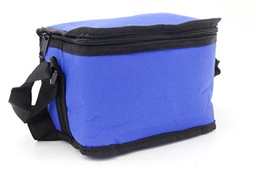 Leyendas Lunch Bag Bolsa Nevera Termica Porta Alimentos 2 litros Tamaño Capacidad de 6 latas, Transporte de Bebidas Frías o Alimentos. (Azul Marino)