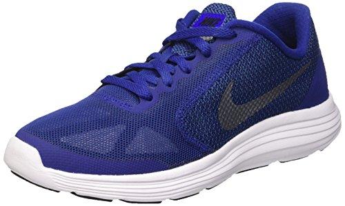 Nike Revolution 3 (GS), Zapatillas para Niños, Azul (DP Ryl Bl/Mtlc Cl Gry Blck Wht), 37 1/2 EU