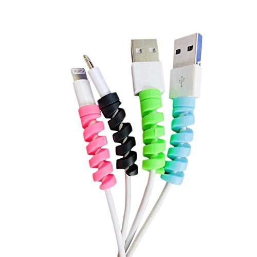 Demarkt Protector de cable de cargador de silicona flexible para todos los teléfonos móviles