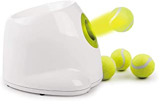 JKQ Pet Automatic Ball Launcher Dog Interactive Fetch Toy Dog Tennis Ball Throwing Machine Automatic Pet Tennis Ball Thrower 3pcs Balls
