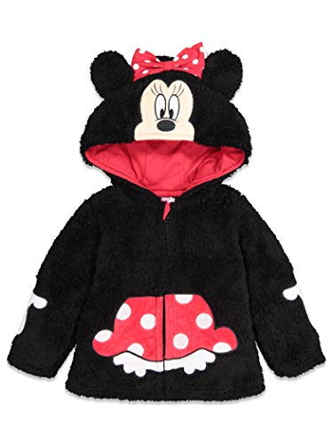 Disney Minnie Mouse Baby Girls Sherpa Fleece Costume Zipper Hoodie 3-6 Months