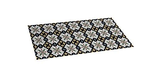 STOR PLANET Hidráulica Negra Alfombra vinílica, 100% PVC Reciclado, 50 x 110 cm