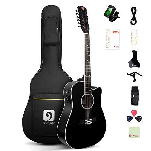 Vangoa 12 Strings Acoustic Electric Guitar
