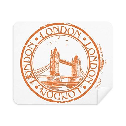 DIYthinker London England Brige Classic Country City Telefon Siebreiniger Gläser Reinigungstuch 2pcs Suede Fabric