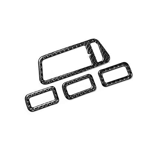 SHOUNAO 4pcs / set carbono de fibra de carbono Control de ventana de control del interruptor del interruptor de la decoración de la decoración de las calcomanías de estilo apta para Volkswagen VW Golf