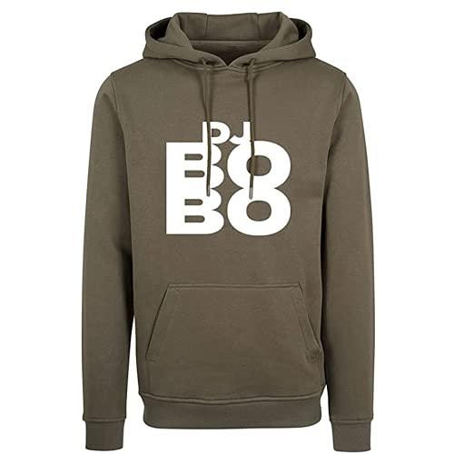 Dj Bobo Limited Edition Hoodie Herren Kapuzenpullover Olive Grün Merchandise Sommer 2021 (S)
