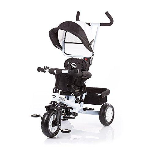 Triciclo con toldo Chipolino (beis, negro, Twister) negro/blanco