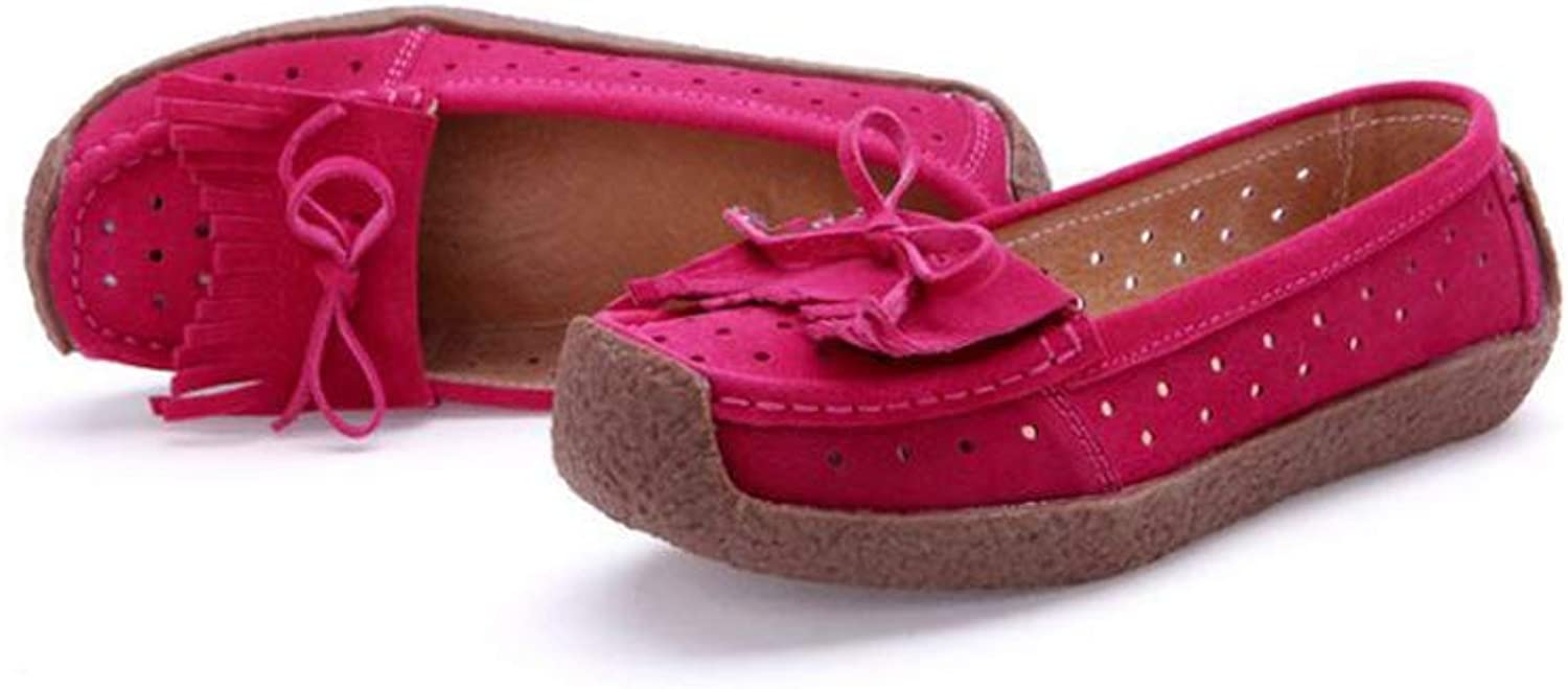 BeautyOriginal Women's Leather Loafers Driving Moccasins Slip-On Boat Flats shoes