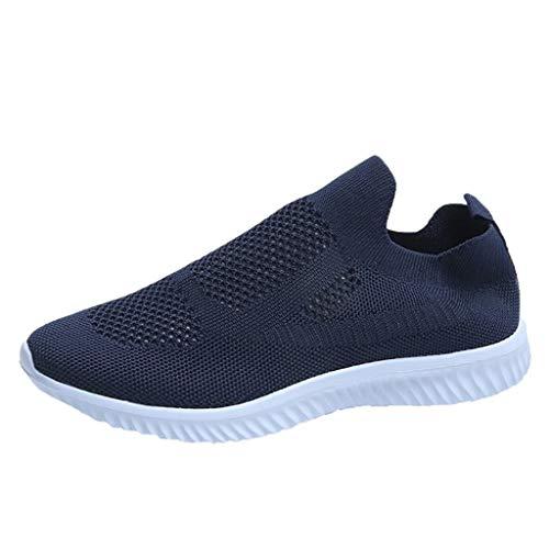 Celucke Scarpe da Ginnastica Donna con Fondo Morbido Respirabile Mesh Neakers Running Camminata Corsa Traspiranti Casual Comode Fitness Shoes