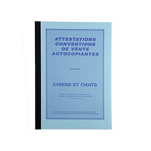 Éditions BCG Livres attestations Vente Factures Chiens et Chats