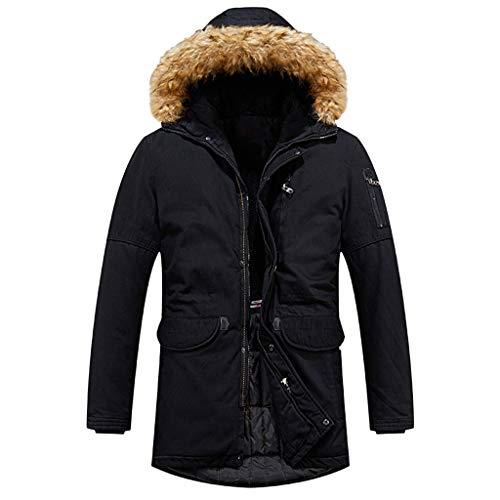 Felicove Männer Beiläufige Mantel Winter Warme Reißverschluss Langarm Kapuzenjacke Plüsch Jacke Mantel Outwear Tops