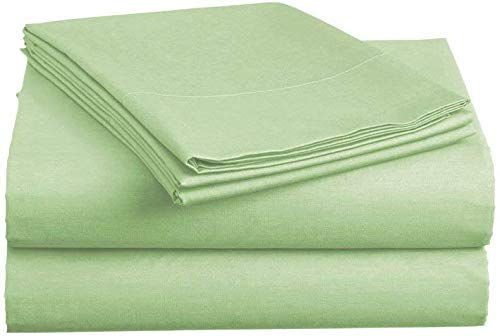 """Xtream Fabric 6 Piece Bed Sheet Set - 600 Thread Count Long Staple Egyptian Cotton, Ultra Soft & Colling Sheets fits Upto 19"""" deep Pocket Mattress Full, Sage Solid"""