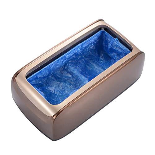 ZOUJUN Schuh-Maschine-Zufuhr Automatische Home Medizin Anti-Rutsch Anti-Wear Sicherheits Mute, 200 Einweg-Kunststoff-Überschuhe, Fuß-Abdeckung Maschine Non-Slip (Farbe: Gold)