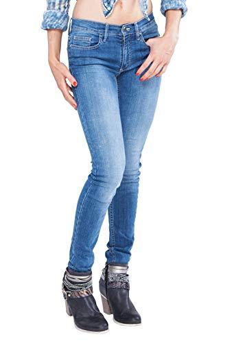 Bitchin Blue Saphira Bright Blue - Designer Jeans Hosen Skinny mit Swarovski Chrystals (W25/L32)