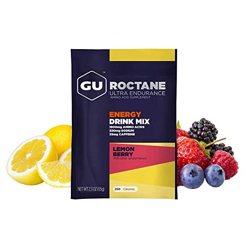 GU Energy Roctane Ultra Endurance Energy Drink Mix, 10 Single-Serving Packets, Lemon Berry (Packaging May Vary)