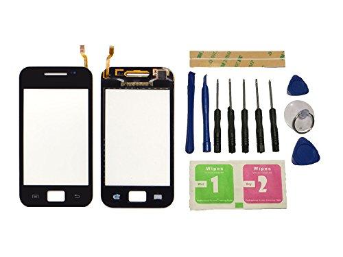 Flügel für Samsung Galaxy Ace S5830 GT-5830 Touchscreen Display Digitizer Glas Schwarz Bildschirm Frontglas (Ohne LCD) Ersatzteile & Werkzeuge & Kleber