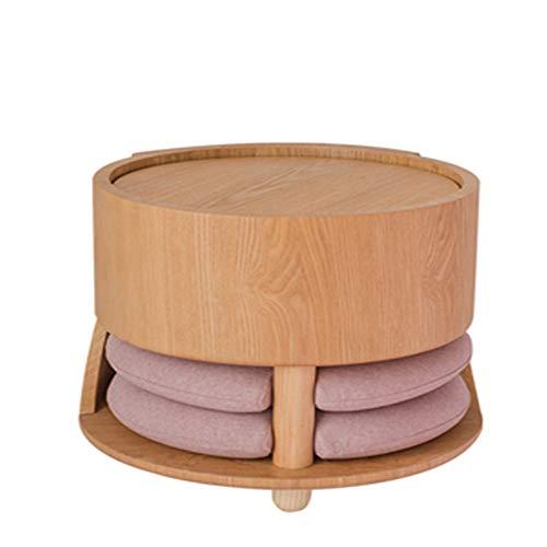 DQM Tatami Theetafel Bamboe Kruk Koffie Tafel, Balkon Baai Raam Kleine Set met Kussen, kan worden gebruikt als ontbijt tafel, kleine salontafel, waterdicht, vochtbestendig,