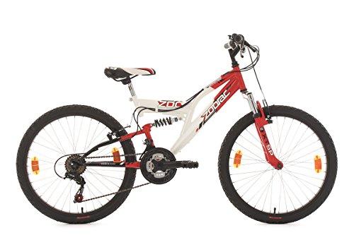 KS Cycling Zodiac Vélo VTT Enfant 24' Rouge 38 cm